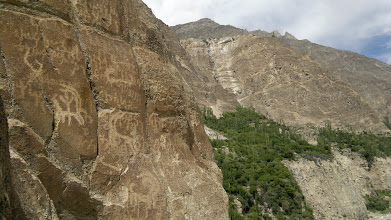 Photo: ROCK CARVINGS IN KARIMA ABAD, HUNZA [NEAR RUBY MINES]