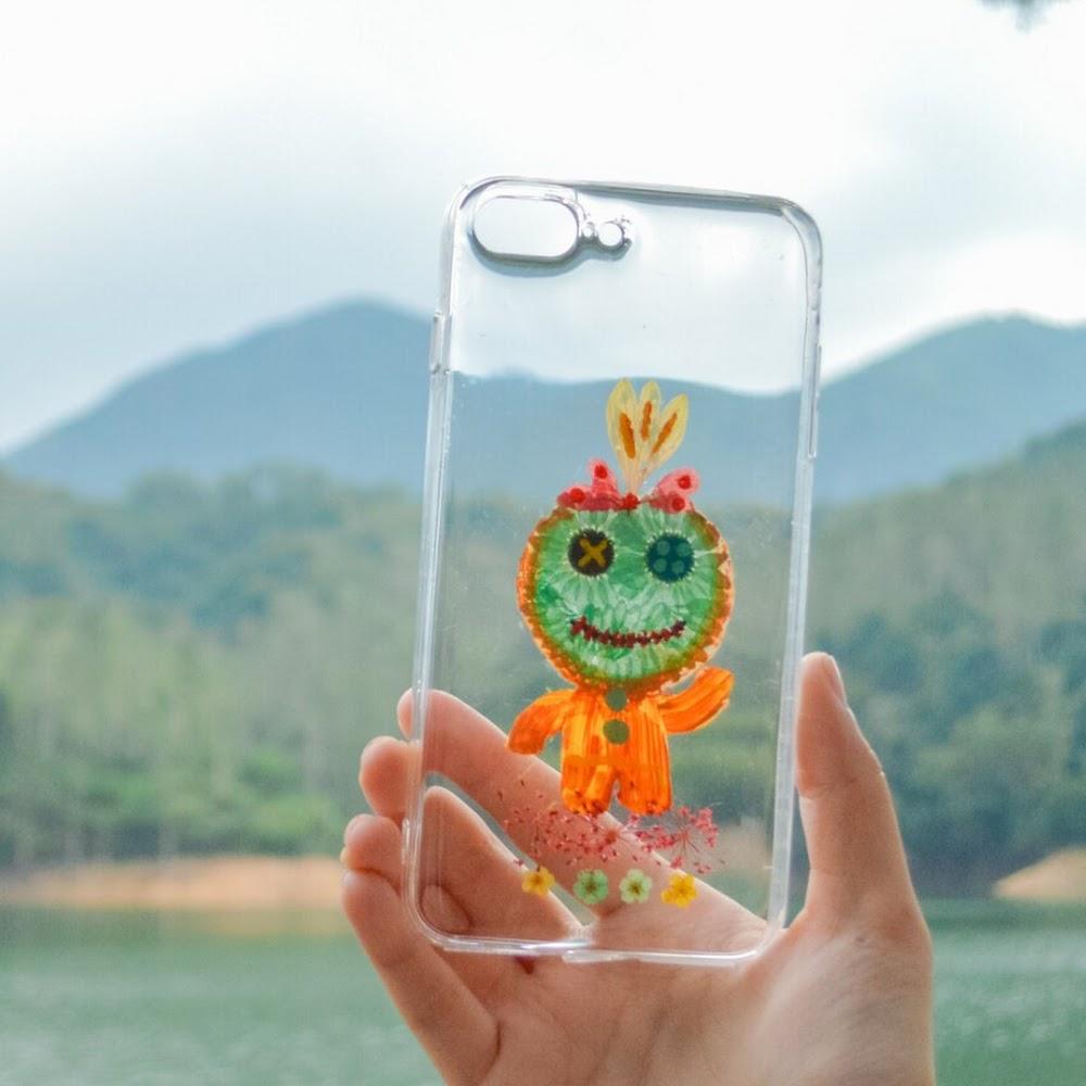 [訂製/custom-made] Scrump Pressed Flower Phone Case
