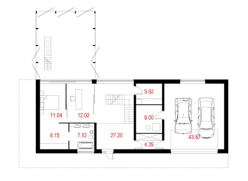 House X07 - Rzut parteru