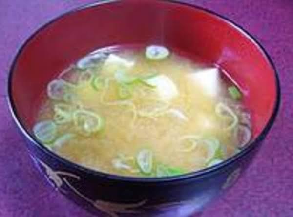 My Sick Day Miso Soup W/ Tofu