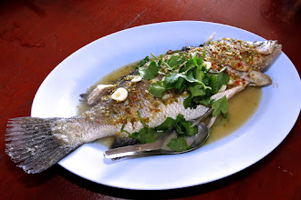 Photo: steamed fish with chilli-lime sauce