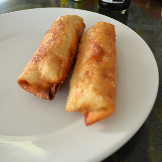 Crispy Chinese Take-Out Vegetable Egg Rolls.