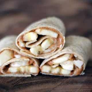 Almond Butter & Banana Snack Wraps.