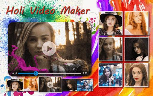 Holi HD Video Maker 2019  screenshots 6