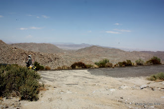 Photo: (Year 3) Day 35 - Top of the Devils Canyon and Interstate 8 Snaking in the Distance