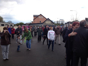 Photo: Some of the large crowd that welcomed Liam, Aidan and Seoirse home - April 2012