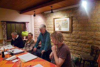Photo: Der Vorstandstisch. (vl.) Max Schnellmann, Marliese Plüss, Margrit Siegrist und Simon Dettwiler. Es fehlt Charlotte Wullschleger.