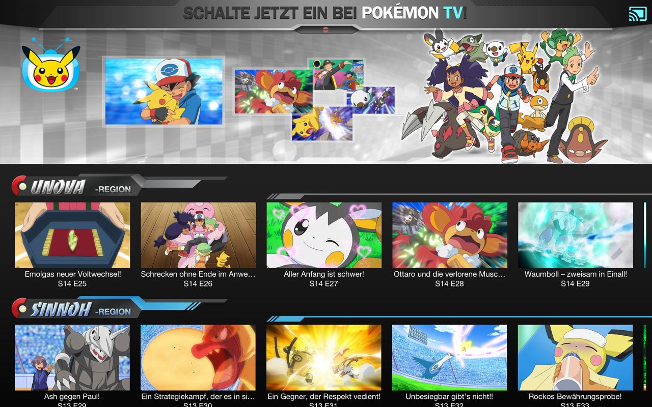 Pokémon TV – Screenshot