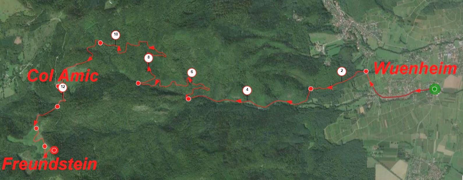 12 km pour rejoindre le Col Amic et encore 2 km pour monter au-dessus de Freundstein, pente moyenne 4.5%