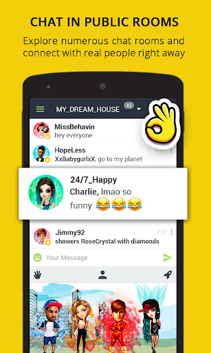 Chat Rooms, Avatars, Date - Galaxy  screenshots 1