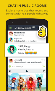 Chat Rooms, Avatars, Date - Galaxy Screenshots