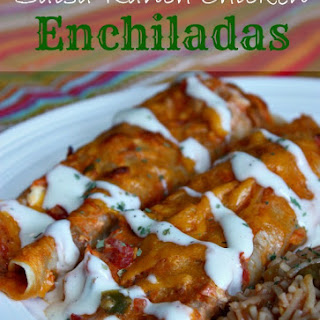 Salsa-Ranch Chicken Enchiladas