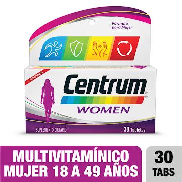 Centrum Women Tableta   Frasco x 30 Tab. Multivitaminico