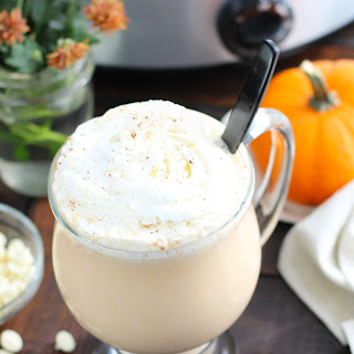 Crockpot Pumpkin Spice White Hot Chocolate Recipe