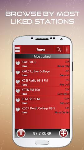 android A2Z Iowa FM Radio Screenshot 2