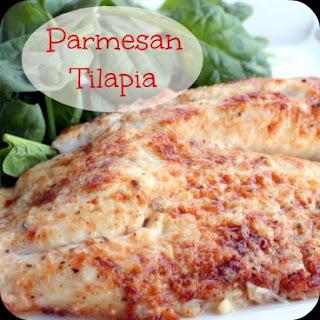 Parmesan Crusted Tilapia.