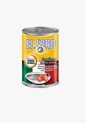 sardina el faro salsa italiana 170gr