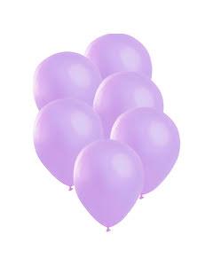 Satinballonger, lila 6 st