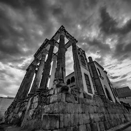templo Diana, Mérida by Phoenix One - Black & White Buildings & Architecture