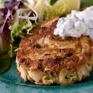 Crab Cakes with Homemade Tartar Sauce.