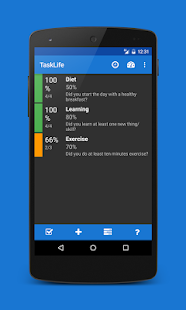 TaskLife Performance Tracker Screenshot