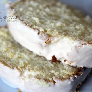Paleo Vanilla Pound Cake and Cream Cheese Frosting.