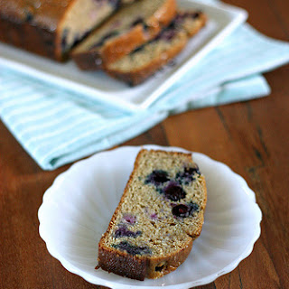 Maple Blueberry Tea Cake with Maple Glaze
