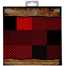Tim Holtz Idea-Ology Kraft Stock Cardstock Pad 8X8 24/Pkg - Halloween