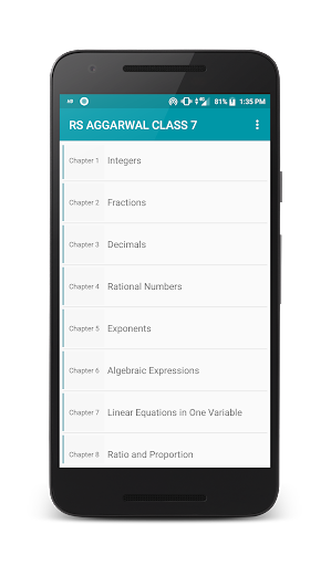 RS Aggarwal Class 7 Maths Solution 2.4 screenshots 1