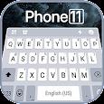 Silver Phone 11 Pro Keyboard Theme