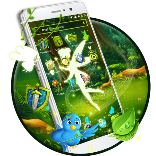 Green Fairy Butterfly-APUS Stylish Theme Icon
