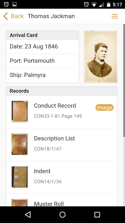 The Tasmanian Convict Finder- screenshot