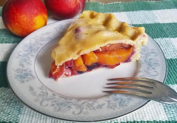 Grandma S Fresh Blueberry Peach Pie Just A Pinch Recipes
