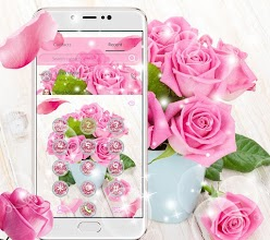 Pink Rose Fresh Theme, 3D Red Flowers Wallpapers 1 1 8 latest apk