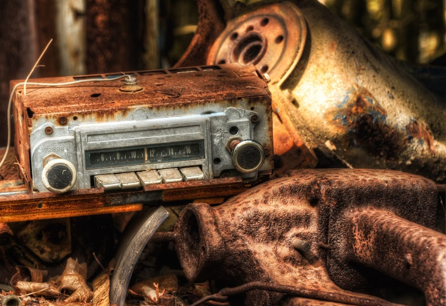No Reception by Tom Baker - Products & Objects Technology Objects ( urbex, hdr, old radio, am radio, radio, rust )