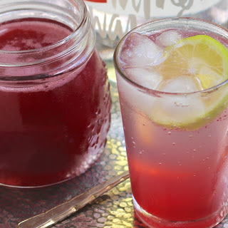 Rhubarb Rosewater Syrup [Vegan]