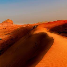 Desert Sunset by Souhayl Bk - Landscapes Deserts ( desert sunset dune sand rock )