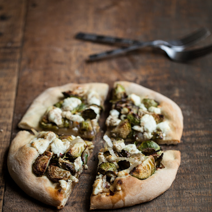 Roasted Brussels Sprouts and Goat Cheese Pizza Recipe | Yummly