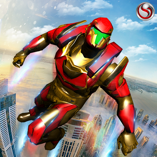 Robot volar Grand City Rescate Juegos (apk) descarga gratuita para Android/PC/Windows