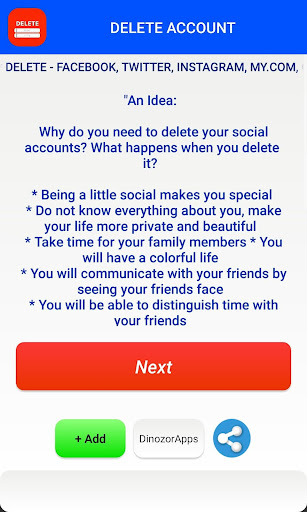 Delete Account - Delete Social Accounts for PC