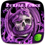 Purple Force GO Keyboard Theme 4.15