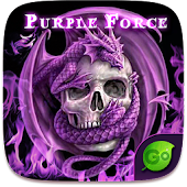 Purple Force GO Keyboard Theme