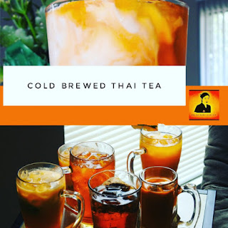 Cold Brewed Thai Tea.