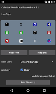 Calendar Week Number Notify- screenshot thumbnail