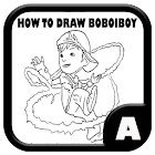 How to draw boboiboy icon