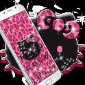 Pink Kitty Shine Leopard Cute Kitten Theme icon
