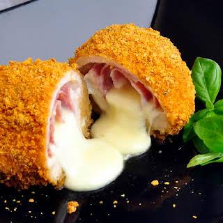 Baked Italian Chicken Cordon Bleu.