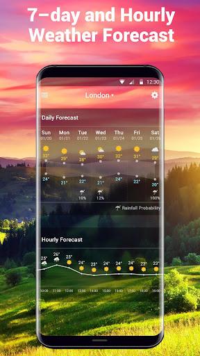 Transparent Weather Widget Raining  screenshots 5
