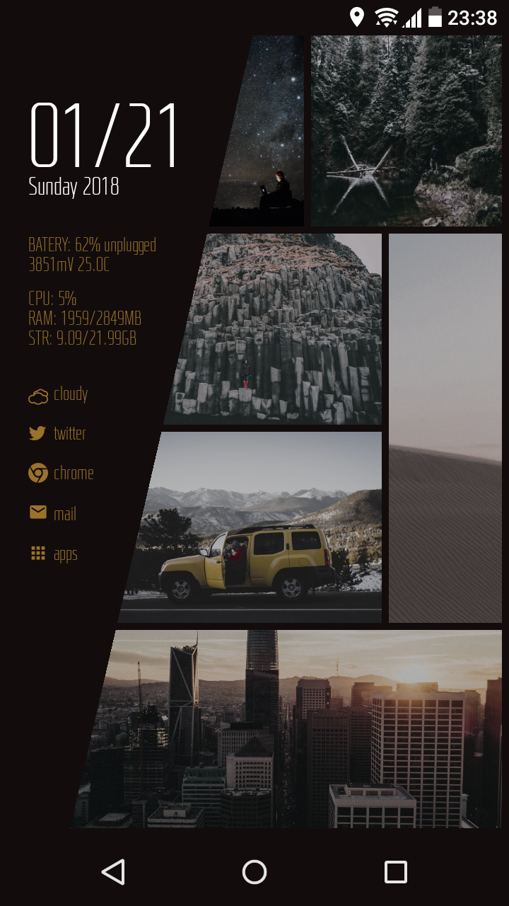 oretheme-01 KLWP Skin Pack Screenshot 1