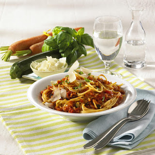 Spaghetti with Red Vegetable Sauce